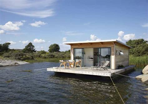 floating house boat floating house swedish archipelago adventure journal