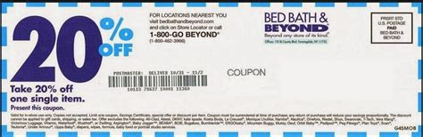 coupon bed bath and beyond 20 off bed bath beyond coupon 2018