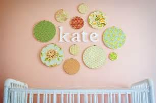 Embroidery hoop wall art crib wall