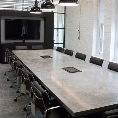 Concrete Conference Table Concrete Conference Tables Concrete Tables Apres Furniture