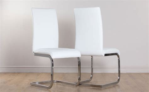 White Leather Dining Room Chair by 2 4 6 8 Perth White Leather Dining Room Chairs Ebay