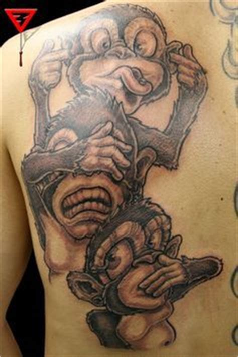three monkeys tattoo design images of a monkeys see no evil speak no evil hear