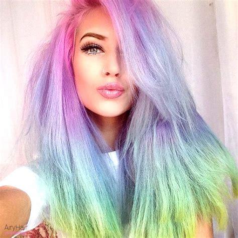 color ideas 20 crazy rainbow hair color ideas for 2016