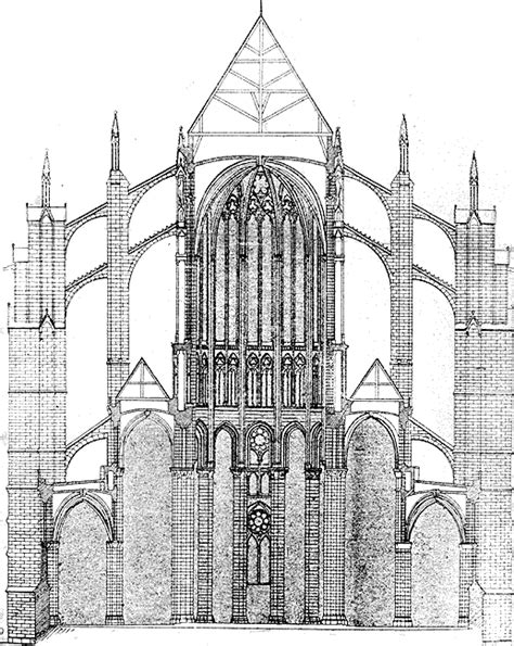 cathedral section beauvais cathedral cross section of the choir gothic