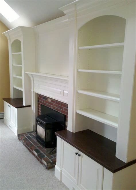 built ins fireplace built ins traditional family room boston