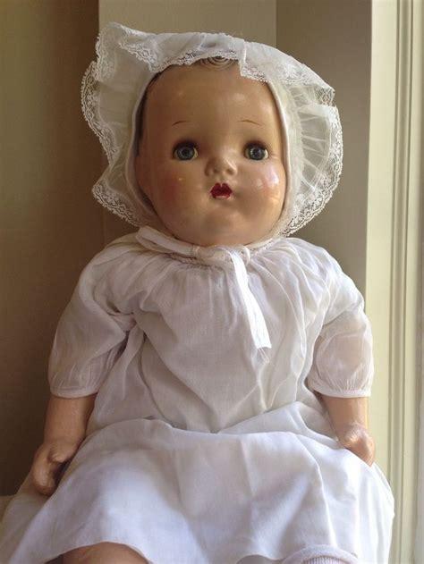 antique composition doll restoration vtg antique abc toys 21 quot composition baby doll cloth