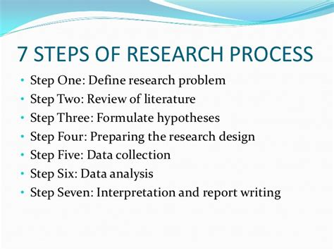 what are the steps in writing a research paper steps involved in writing a project report 7 steps to a