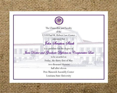Lsus Mba Graduate With Honors by Custom Graduation Announcement Any College Highschool