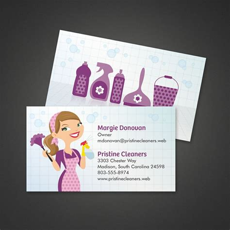 cleaning services business card vistaprint business