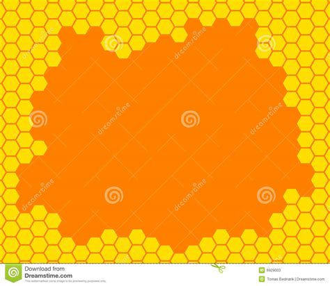 honeycomb pattern frame honeycomb frame stock photos image 6929003