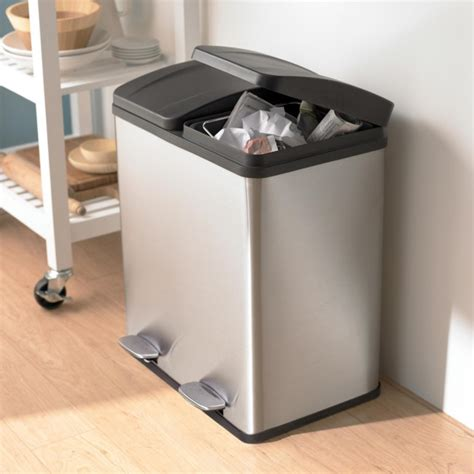Kitchen Island Toronto by Ksp Duplex Double Step Garbage Recycling Can Kitchen