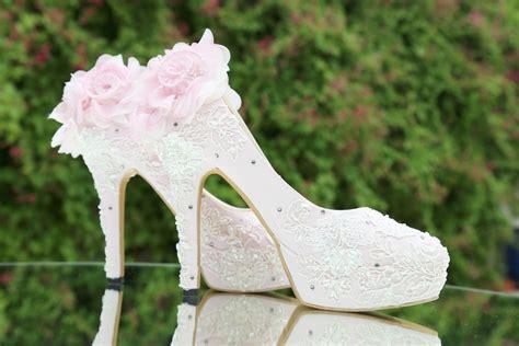 High Heels Brukat T sepatu lukis pompom brukat platform baby pinkslightshop