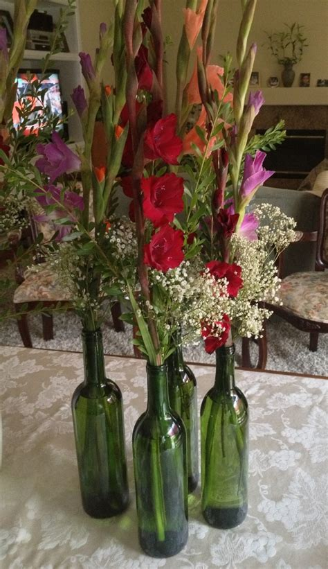 Wine Bottle Vases Wedding by Wine Bottles As Vases Wedding Bottle