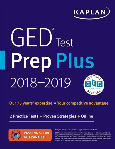 ged test prep plus 2018 book by caren slyke