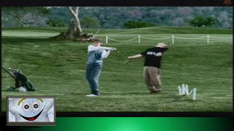 golf swing not hit hit in face by golf club swing youtube