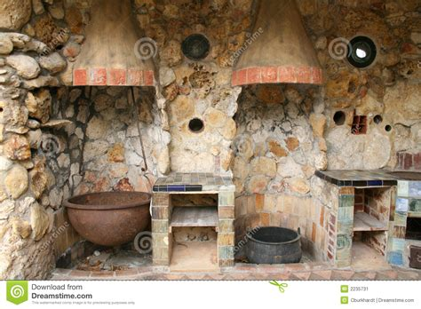 Colorful Kitchen Canisters rustic old outdoor kitchen stock image image 2235731