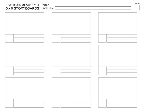 free storyboard templates for word free storyboard template coloring pages
