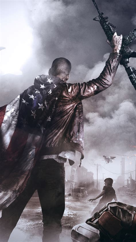 hd background homefront  revolution  game  flag