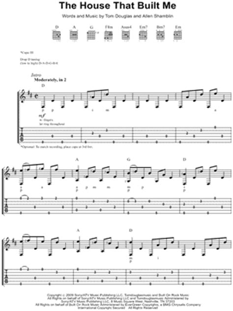 the house that built me piano sheet music free miranda lambert quot the house that built me quot guitar tab download print