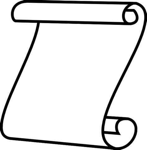 scroll outline template scroll white background clip at clker vector