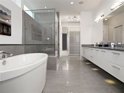 Modern Bathroom Edmonton Sd House Modern Bathroom Edmonton By Thirdstone