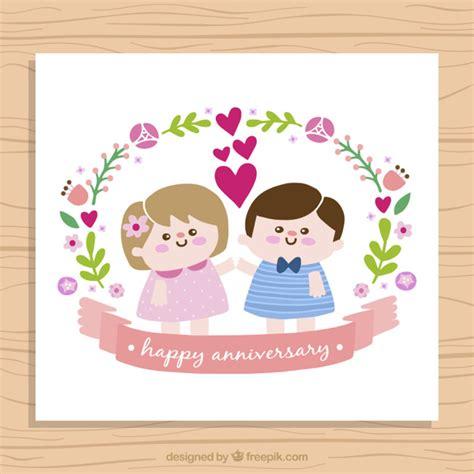 imagenes de aniversario para la pareja tarjeta de aniversario de simp 225 tica pareja de ni 241 os