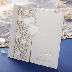 what to do with wedding cards custom laser cutting wedding invitations white lace cards