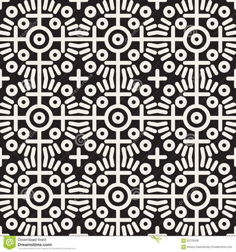 line pattern circle vector seamless black and white geometric ethnic circle