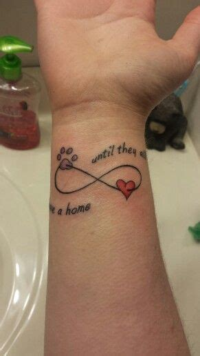 my new tattoo quot until they all have a home quot i work at a