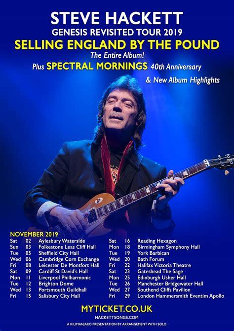 Genesis Tour 2019 by Steve Hackett 2019 Uk Tour Dates Announced