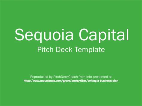 venture capital investment template sequoia capital pitch deck template