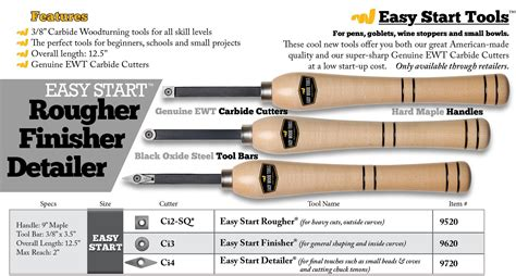 starting woodworking tools easy start turning tools