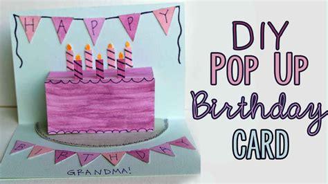 Diy Pop Up Birthday Card Diy Pop Up Birthday Card Youtube