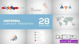 universal corporate presentation after effects project