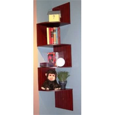 hanging corner shelves 4d concepts hanging corner storage cherry