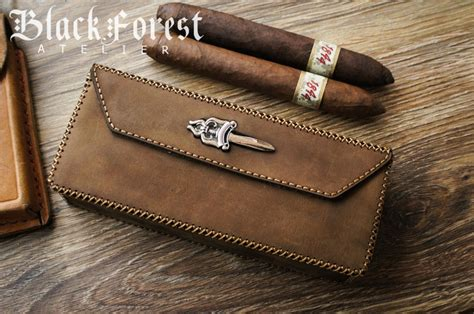 Handmade Cigars - handmade cigar boxes for 4pcs cigars black forest