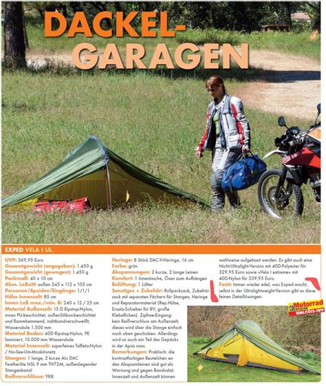 Motorrad Abenteuer Magazin by Tents Tarps Exped Uk And Ireland