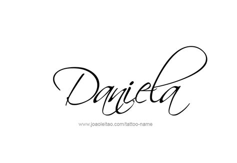 daniela name tattoo designs