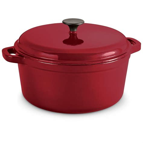 enameled cast iron castlecreek enameled cast iron 6 5 liter dutch oven with