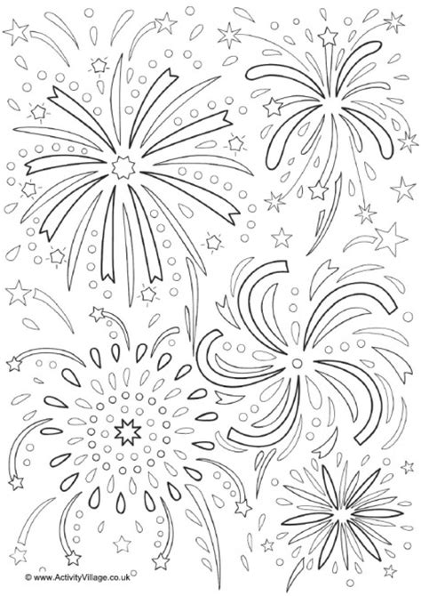 Fireworks Colouring Page 2 Fireworks Coloring Pages