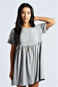 ruby oversized smock dress grey marl grey marl online