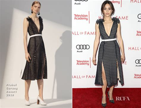 Catwalk To Carpet Emmy Rossum by Emmy Rossum In Prabal Gurung Television Academy S 24th