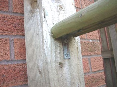 banister rail fixings fitting the handrail decking