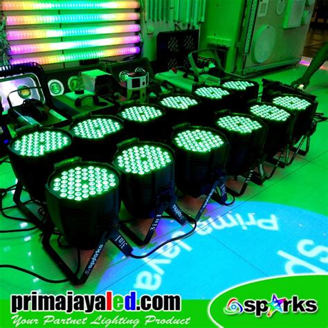 Lu Par Spark Mini 12 X 1 Watt paket 12 par led 54 3in1 rgb prima jaya led