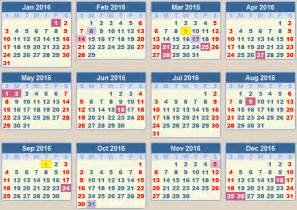Put your cursor over the calendar dates for more information