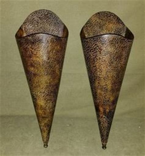 Metal Wall Vases by Cone Shaped Wall Vase Filled With And By Creativelycarole 45 00 Fall Decor