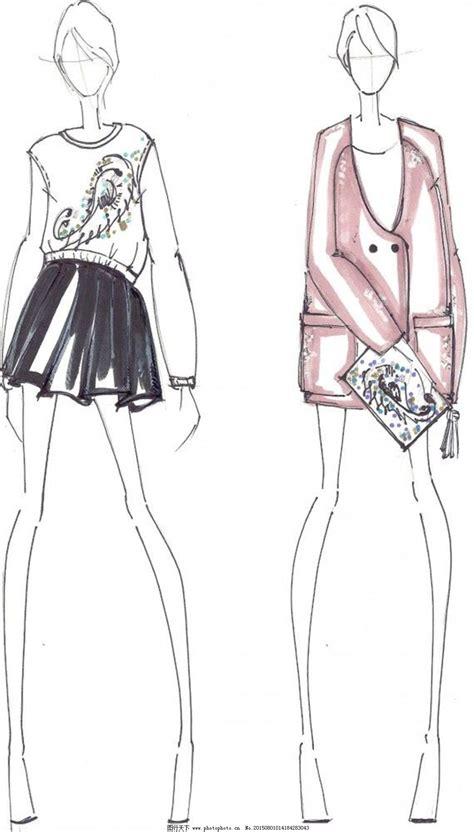 Fashion Design Vorlage 服装服装设计手绘 服装服装设计手绘分享展示