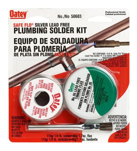safe flo silver lead free plumbing kit 117 quot contains
