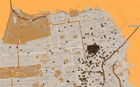 san francisco highlights map san francisco s map highlights a shitty