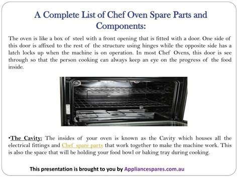 Chef Cooktop Spare Parts - ppt an all inclusive guide to chef oven spare parts and
